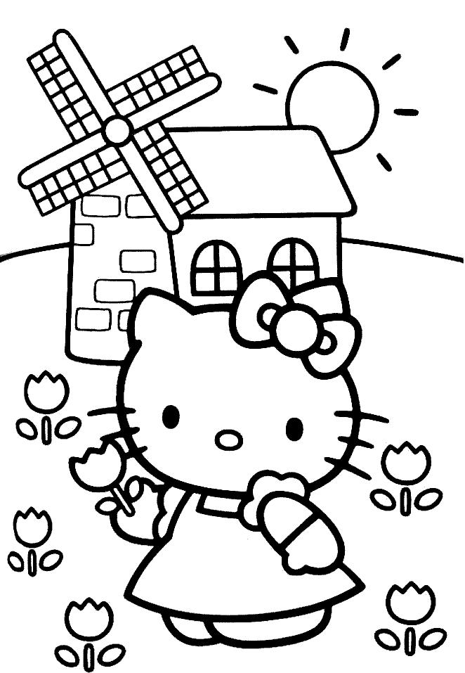 Hello kitty de colorat p17