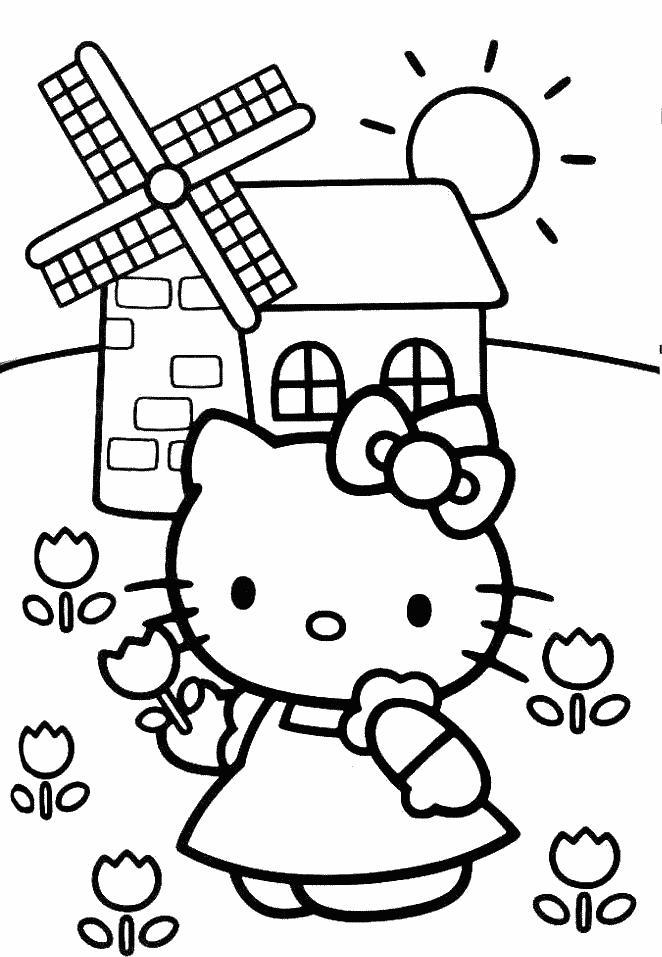 Hello kitty de colorat p19