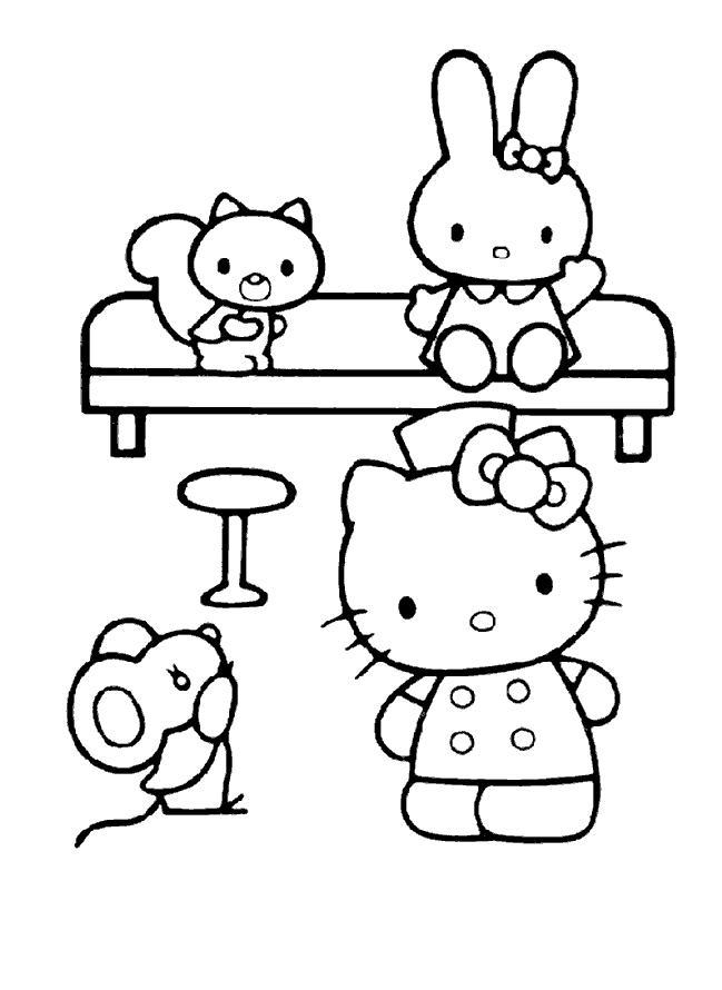 Planse De Colorat Hello Kitty De Colorat P21 Desene De