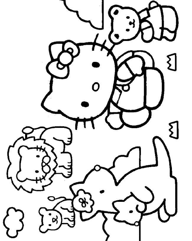 Hello kitty de colorat p22