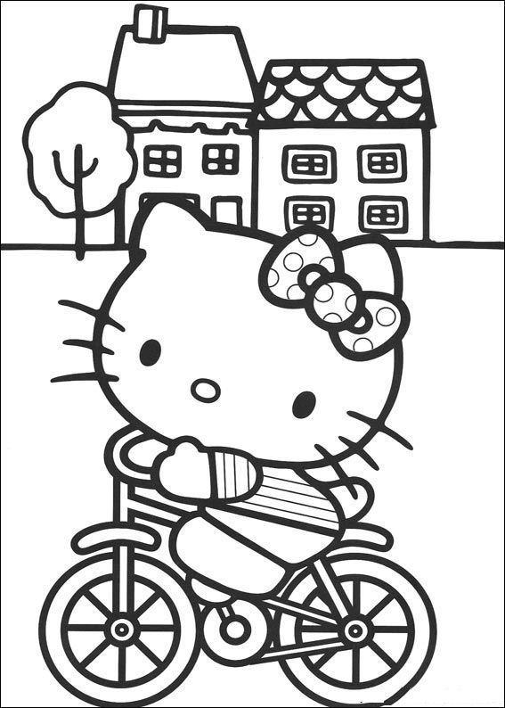 Hello kitty de colorat p25