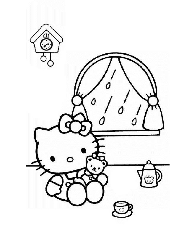 Hello kitty de colorat p27