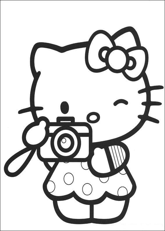 Hello kitty de colorat p28