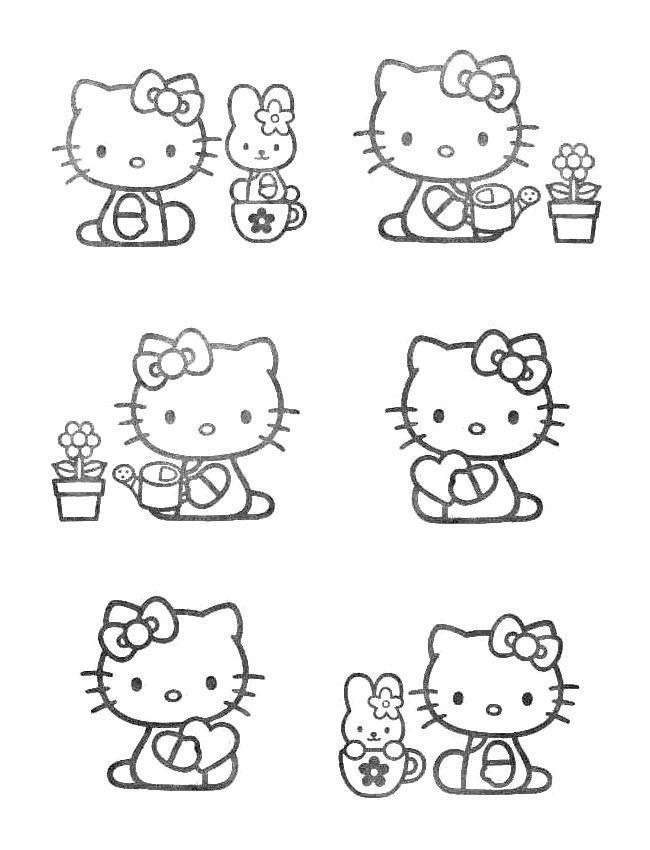 Hello kitty de colorat p29