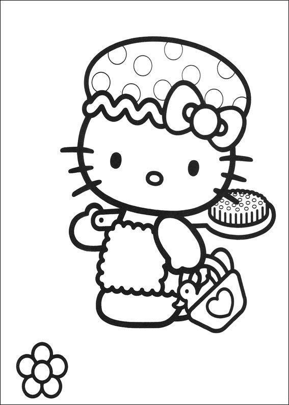 Hello kitty de colorat p34