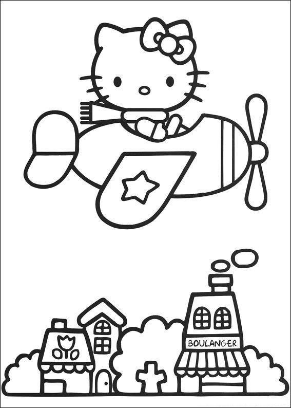 Hello kitty de colorat p38