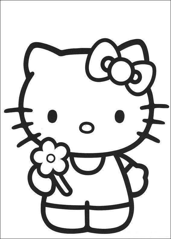 Hello kitty de colorat p44