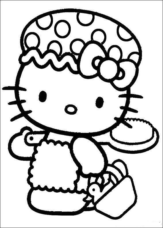 Hello kitty de colorat p46