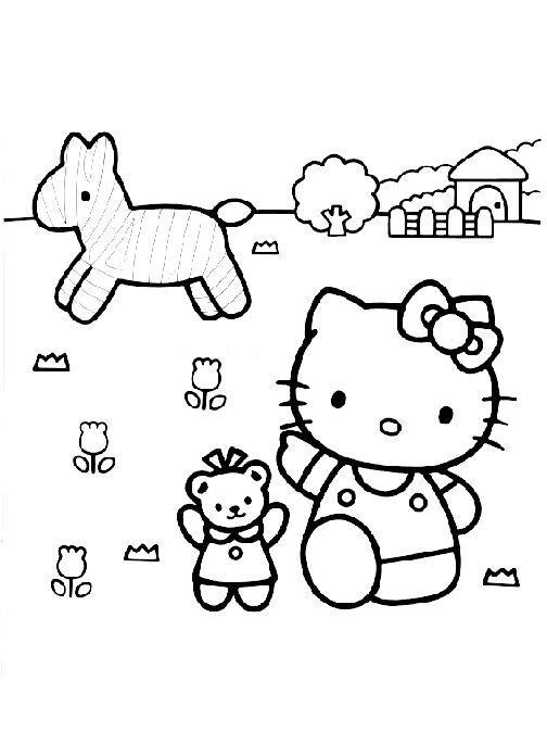 Hello kitty de colorat p56