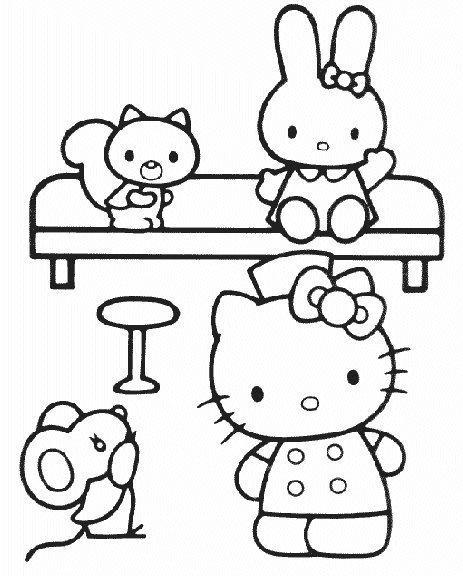 Hello kitty de colorat p57