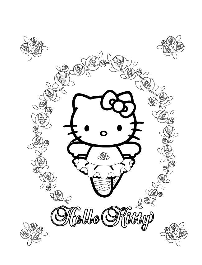 Hello kitty de colorat p58
