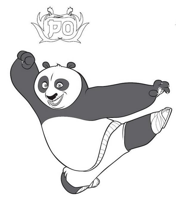 Planse De Colorat Cu Kung Fu Panda Desene De Colorat Cu