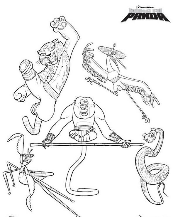 Planse De Colorat Kung Fu Panda De Colorat P20 Desene De