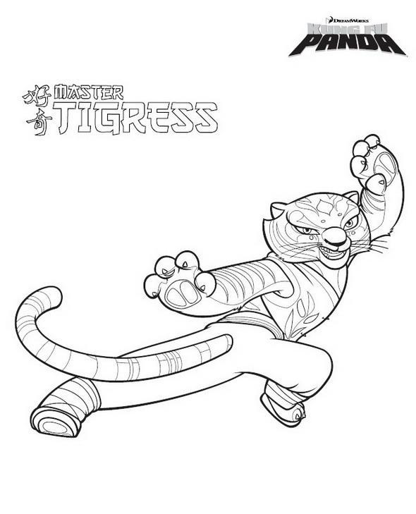 Planse De Colorat Kung Fu Panda De Colorat P28 Desene De