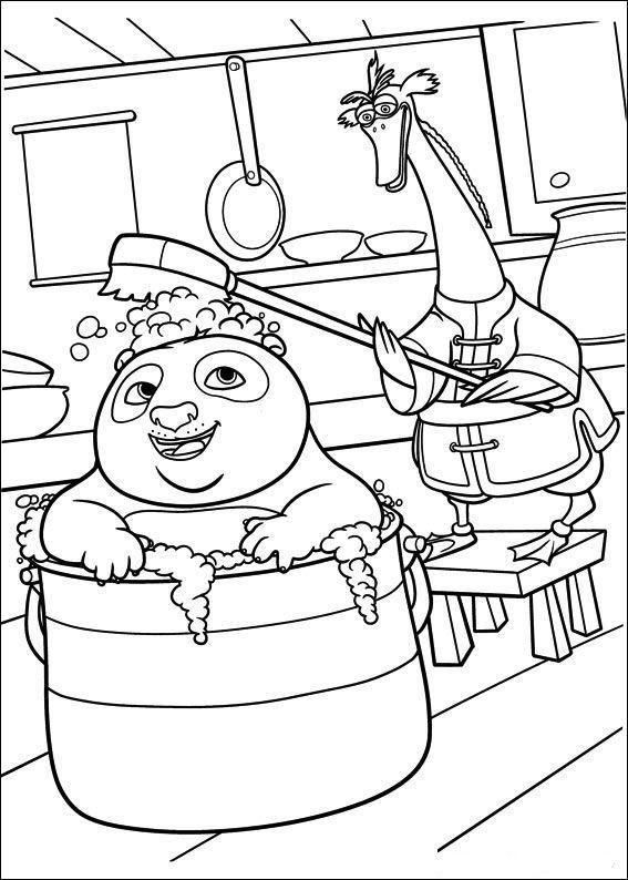 Planse De Colorat Kung Fu Panda De Colorat P32 Desene De