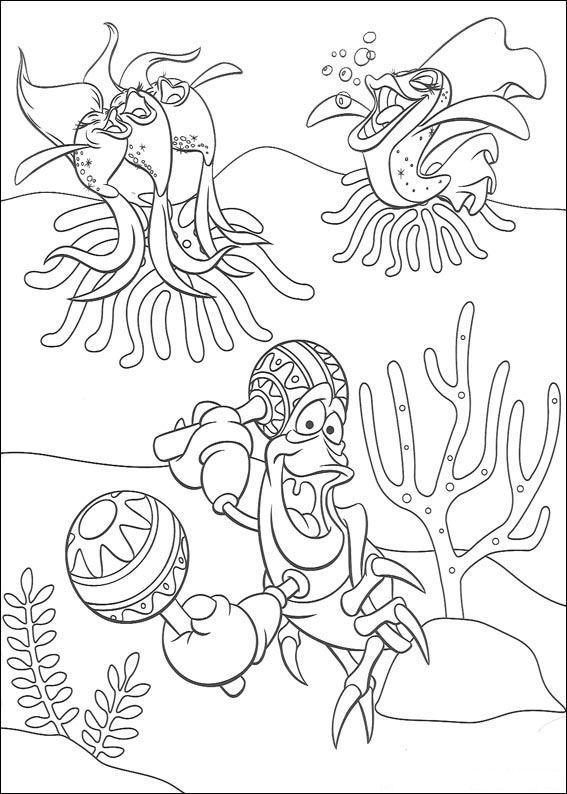 Mica Sirena Planse De Colorat