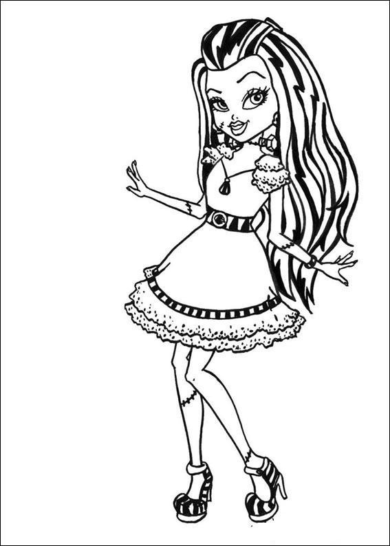 Planse De Colorat Cu Monster High Desene De Colorat Cu