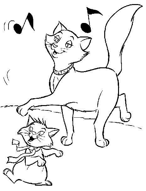 Planse De Colorat Cu Pisicile Aristocrate Desene De