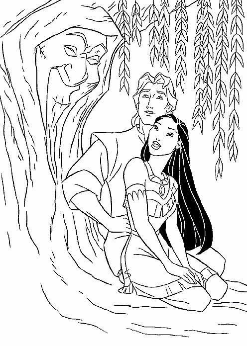 Planse De Colorat Cu Pocahontas Desene De Colorat Cu