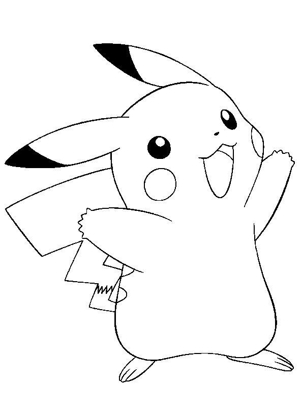 Planse de colorat Pokemon de colorat