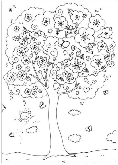 Planse De Colorat Cu Primavara Desene De Colorat Cu