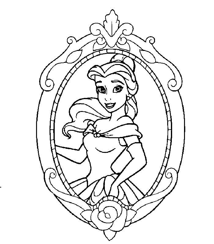 Planse De Colorat Printesele Disney De Colorat P07 Desene