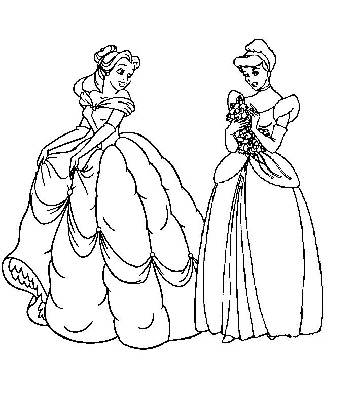 Planse De Colorat Printesele Disney De Colorat P26