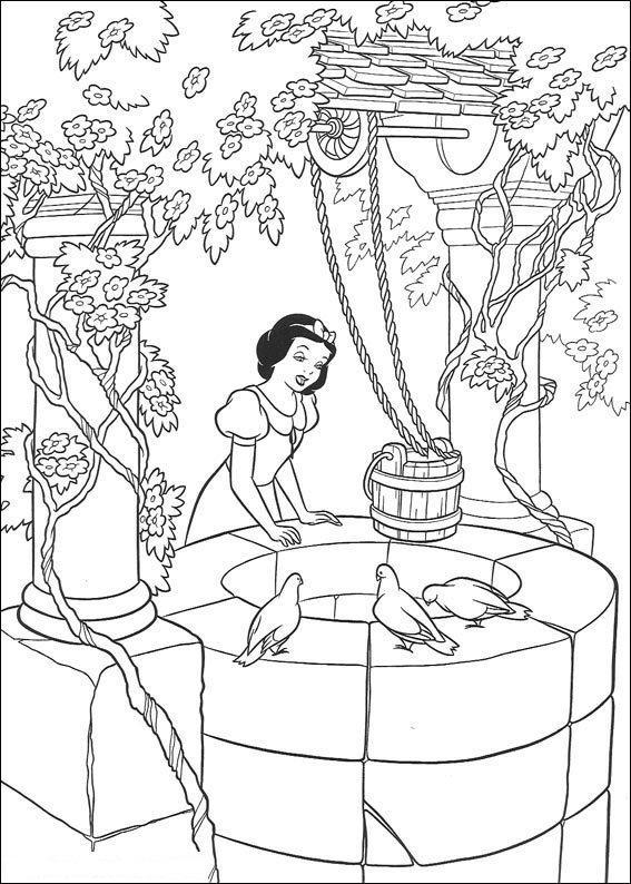 Printesele disney de colorat p75