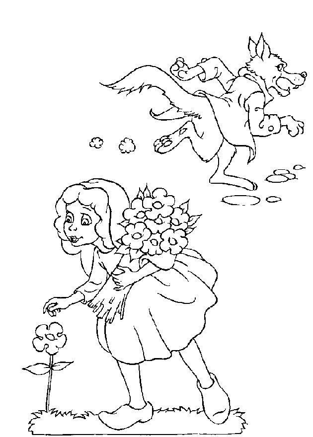 Planse De Colorat Scufita Rosie De Colorat P03 Desene De