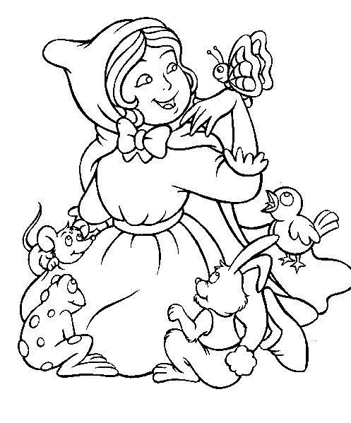 Planse De Colorat Cu Scufita Rosie Desene De Colorat Cu
