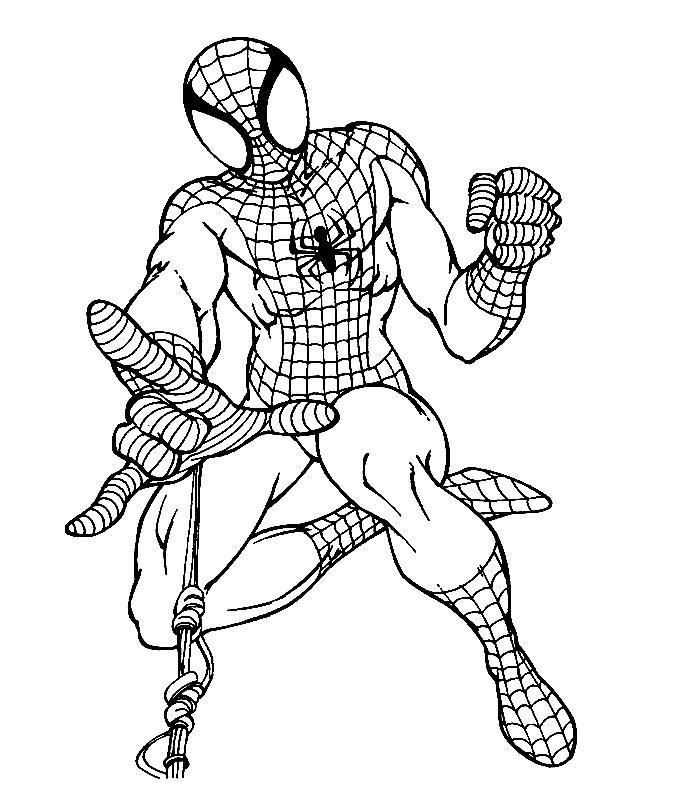 Spiderman de colorat p02
