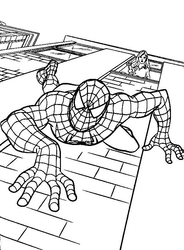 Spiderman de colorat p07