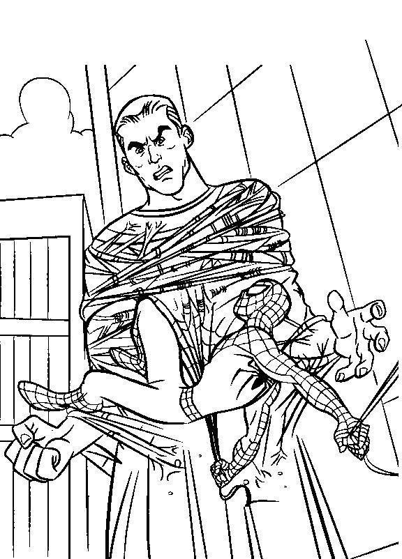 Spiderman de colorat p09