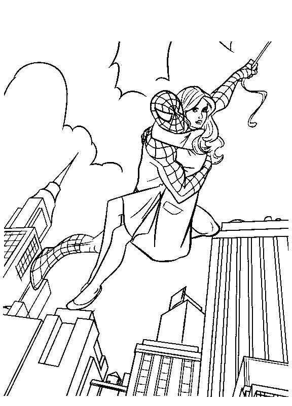 Planse De Colorat Spiderman De Colorat P16 Desene De