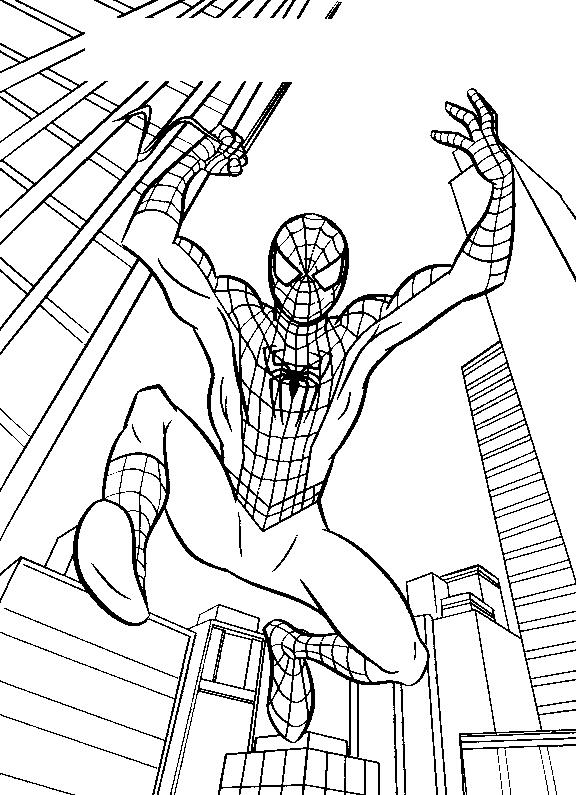 Planse De Colorat Spiderman De Colorat P27 Desene De
