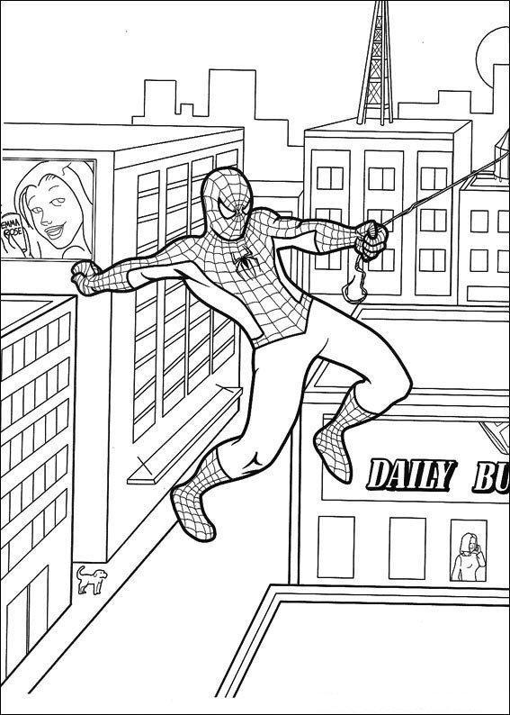 Planse De Colorat Spiderman De Colorat P54 Desene De