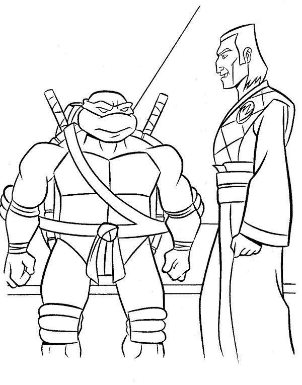Planse de colorat testoasele ninja de colorat p06 desene - Dessin anime des tortues ninja ...