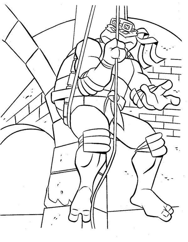 Planse De Colorat Testoasele Ninja De Colorat P10 Desene