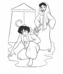 Planse De Colorat Cu Aladin Desene De Colorat Cu Aladin