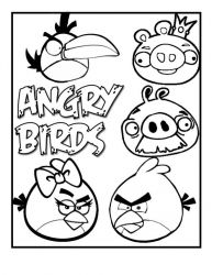 plansa de colorat angry birds #12