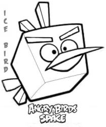 plansa de colorat angry birds #18