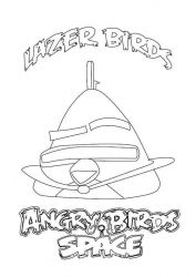 plansa de colorat angry birds #19