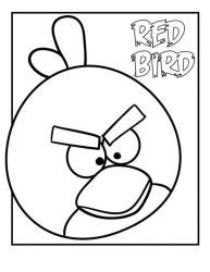 plansa de colorat angry birds #26