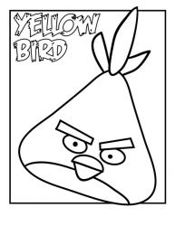plansa de colorat angry birds #29