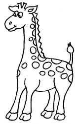 plansa de colorat animale girafe #4