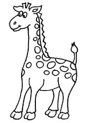 plansa de colorat animale girafe #27