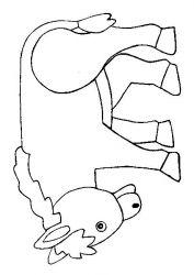 plansa de colorat animale magari #14