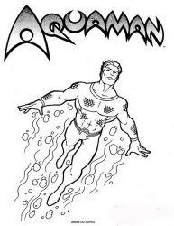 plansa de colorat aquaman #10