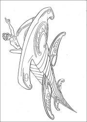 plansa de colorat atlantis #15