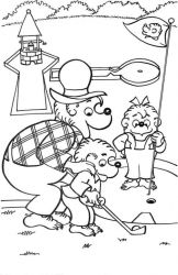 plansa de colorat berenstain bears #4